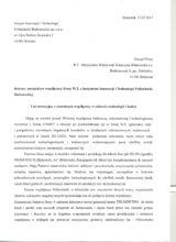 List intencyjny z Instytutu Innowacji i Technologii Politechniki Białostockiej str.1