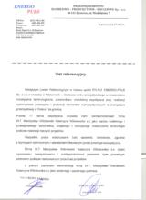 List referencyjny od firmy Enegro Puls