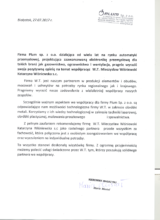 List referencyjny od firmy PLUM