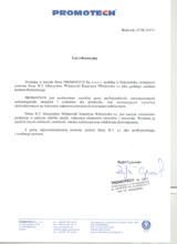 List referencyjny PROMOTECH