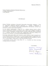List referencyjny od studentów